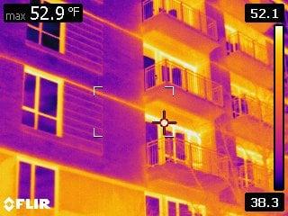 Thermal Break Concrete Slab Thermal Image