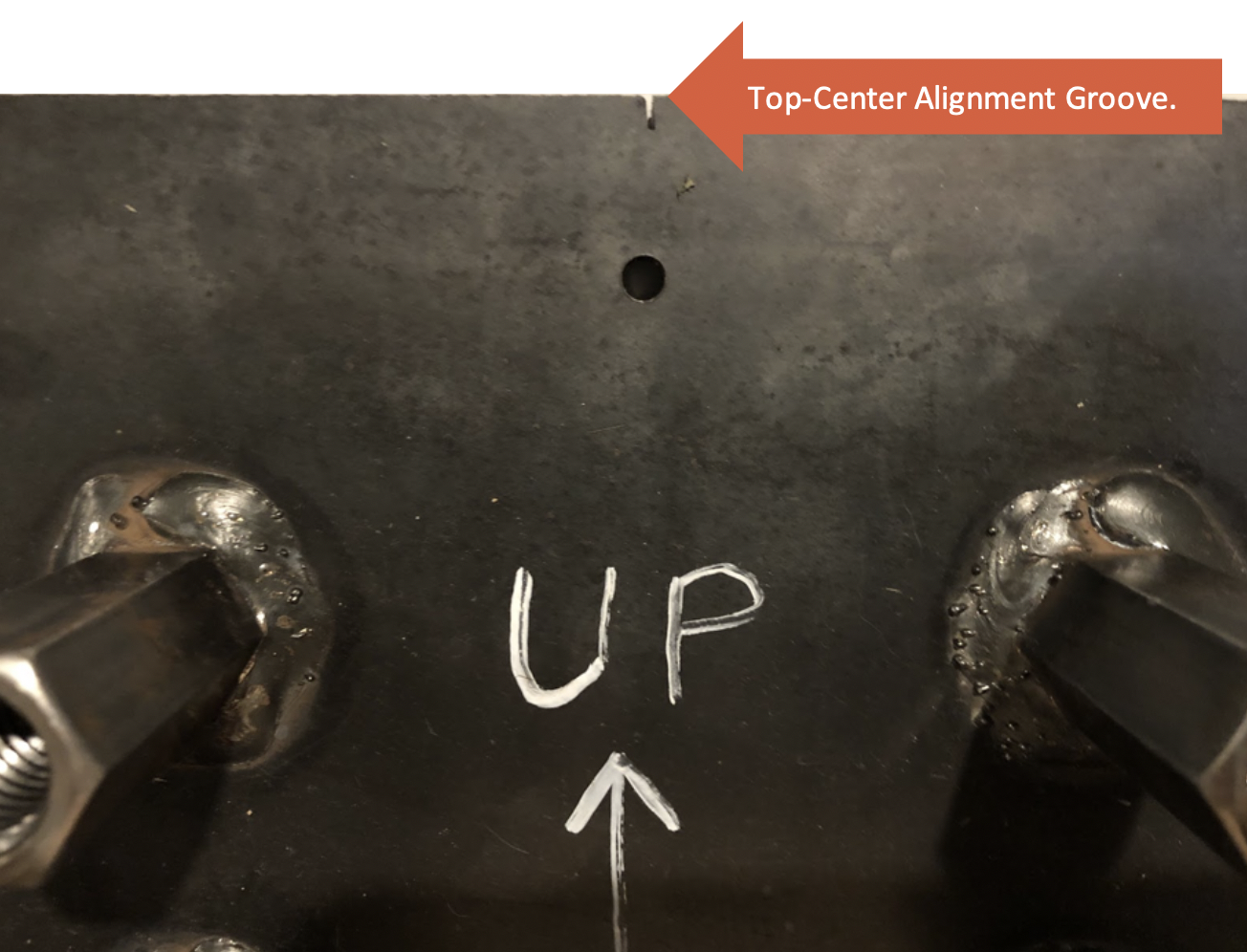 Steel Embed Top-Center Alignment Groove