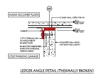 Thermal Break Example - With Thermal Break - Ledger Angle Detail