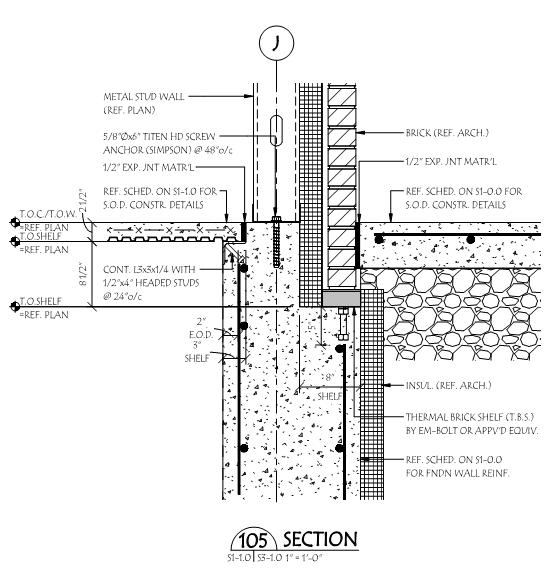 concrete slab thermal break